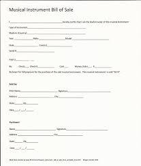 Printable Sample Equipment Bill Of Sale Template Form Bill