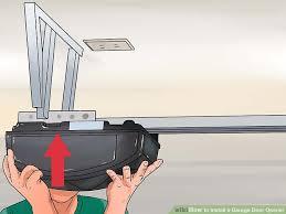install garage door openerHow to Install a Garage Door Opener with Pictures  wikiHow