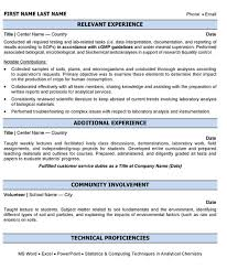 Laboratory Analyst Resume Sample & Template