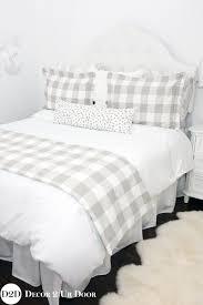 shining design buffalo check duvet tan white farmhouse plaid custom sham designer cover king set