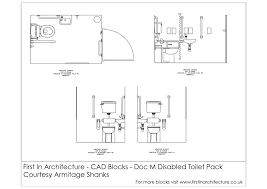 fia cad blocks doc m disabled toilet