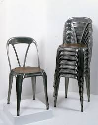 art nouveau stacking metal chair with pressed wooden seat circa 1926 via the wolfsonian