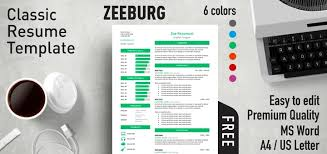 Classic Resume Template Word Simple Zeeburg Classic Resume Template
