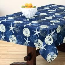 stunning batik shell dark ocean tablecloth zipper options patio tablecloth with umbrella hole image concept