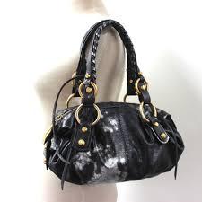 francesco biasia leather shoulder bag black and silver reebonz united states