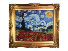 art reion oil painting van gogh paintings starry poppies collage artist interpretation