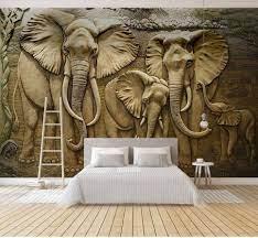 Custom Relief Elephant Family 3d Wall ...