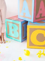 Giant Baby Block Decorations