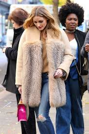 olivia palermo wearing a fur coat out in nyc 11 28 2016