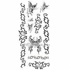 1ks Dámské Nepromokavé Dočasné Tetování Zpět Zápěstí Krku Tetování Motýl Náramek Těla Tetování 185 Cm 85 Cm