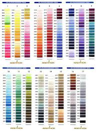 Exquisite Thread Color Chart Coats Clark Embroidery Thread Conversion Chart Brothers