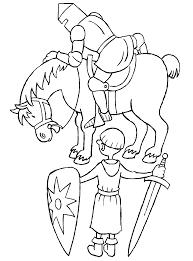 Kleurplaat Ridder Rikki Ridder Met Een Grote Bos Bloemen