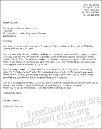 Vp It Cover Letter Examples Vice President Of Sales Cover Letter