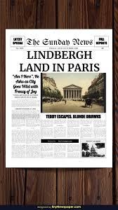 Editable Newspaper Template Word Powerpoint Newspaper Template