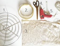 diy boho fringe chandelier here is what you ll need