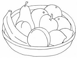 fruit_basket_coloring_page 31 300x225 fruit basket coloring pages crafts and worksheets for preschool on coloring pages of fruits in a basket