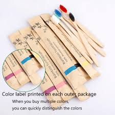 <b>Bamboo</b> Toothbrush Soft Bristles Biodegradable Vegan <b>eco friendly</b> ...