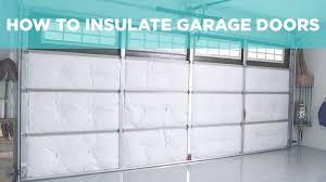 how to insulate a garage door diy insulation