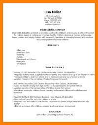 8 Resume For Babysitters By Nina Designs