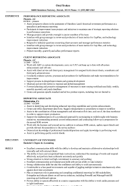 Resume With Accent Reporting Associate Resume Samples Velvet Jobs 79