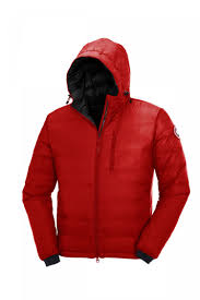 Canada Goose Mens Lodge Hoody Lightweight 5055M Red Black,Canada Goose  jackets on sale