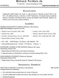 9 10 College Resume Samples For High School Senior 626reserve Com