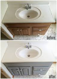 grey bathroom sink cabinets. chalk paint bathroom vanity makeover - a full review \u0026 step by step! grey sink cabinets