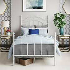 Details about Girl Twin Bed Frame For Kids Boys Teen Bedroom Headboard Dorm Metal Furniture