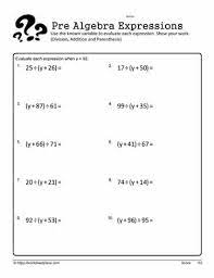 simplify expressions worksheets