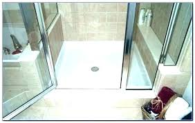 subway tile shower panels pan liner installation replacement cost base for ready material bathrooms alluring install