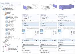 screenshot displaying the derived values functionality in comsol multiphysics step calculation for each mass flow rate