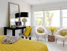 desk in master bedroom ideas. Beautiful Ideas White Yellow U0026 Black Bedroom ByTara Seawrightu0027s Design Yellow Bedroom In Desk Master Bedroom Ideas S