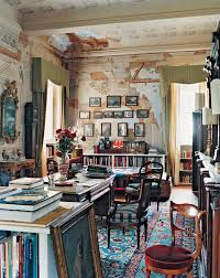 Extraordinary Wall Mural in Study Room using Bohemian Interior