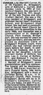 Obituary for Lila CURRAN, 1911-1992 (Aged 81) - Newspapers.com