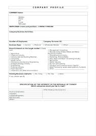 Company Profile Sample Inspiration Catering Assistant Company Profile Template Templates Financial