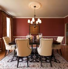 2 red walls in dining room red dining room walls with a touch of white design