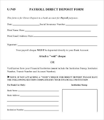 Direct Debit Form direct deposit template - East.keywesthideaways.co