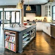 kitchen island shelves kitchen island gray with turned legs and open shelf shelves peninsula bookcase how