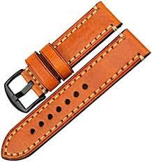 <b>MAIKES Watch Band</b>, Genuine Leather <b>Watch Strap</b> 20mm 22mm ...