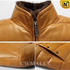 mens down leather jacket