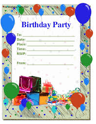 free birthday invitation template for kids birthday invites awesome birthday invitation templates design
