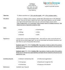 Fill Out Resume – Foodcity.me