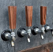 Beer Tap Coat Rack Handcrafted Distinctive Dark Walnut Beer Short Tap Handle 100 x 100 54