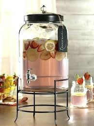glass beverage dispenser with metal spigot glamorous and stainless steel