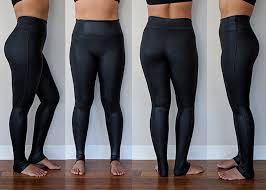 spanx review faux leather leggings try on
