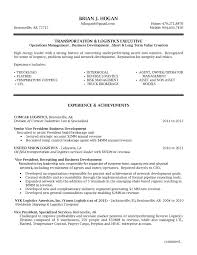 Transportation Resume Examples Resume Examples For Logistics Management Specialist Save Sample