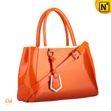 orange patent leather tote bags cw300126 cwmalls com