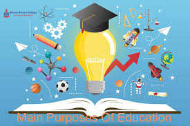 What is the main purpose of education?   Punjab Colleges