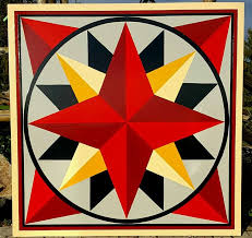 1416 best Barn quilts images on Pinterest | Barn quilt patterns ... & Compass by Gardiner's Gate Barn Quilts Adamdwight.com