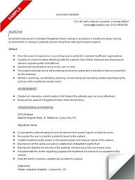 Professional Objective For Nursing Resume Good Objective For Nursing Resume 14